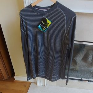 Smartwool l Gray Striped Long Sleeve Crew